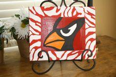 8x10 Cardinal Canvas