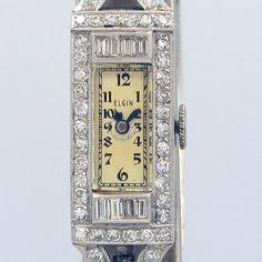 1935 Elgin Ladies Platinum & Diamonds Watch