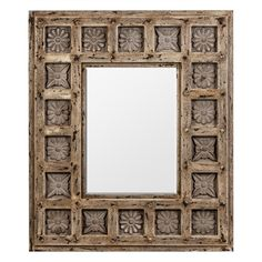 Espejo de Madera Rectangular con Relieve
