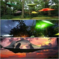 Tree Tent Hammocks-Camping in trees. . Tree Camping, Best Tents For Camping, Cool Tents, Go Camping, Camping Hacks, Camping Ideas, Camping Stuff, Travel Stuff, Suspended Tent