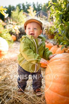 Baby/family/1-year-old boy photo session, pumpkin patch, fall, autumn, Vancouver, Washington.