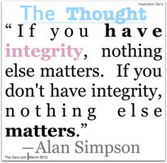 Quotes On Character Quotes On Honor And Integrity  Integrity  Character Quotes .
