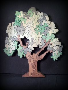 Puzzle Crafts, Puzzle Toys, Wood Crafts, Paper Crafts, Diy Crafts, Diy Craft Projects, Wood Projects, Projects To Try, Craft Ideas