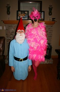 Lawn Ornaments: Flamingo and Garden Gnome - 2013 Halloween Costume Contest via @costumeworks