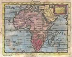 "Antique map 'Africa' engraved by Giovanni Petroschi for Claude Buffier from ""Geografia Universale del. Vintage Maps, Antique Maps, Congo Free State, Lake Chad, African Map, Saint Matthew, Phantom, Star Chart, Map Globe"