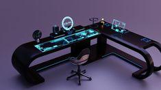 Sci-fi Office Desk Set | FlippedNormals