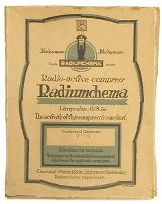 The Historical Collection: Radiumchema Radioactive Compress, c. 1930