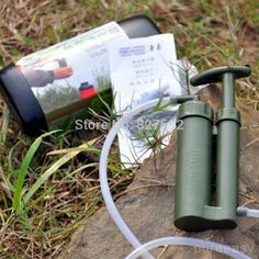 Find More Water Filters Information about Portable Camping Mini Water Purifier Clarifier Soldier Military Water Filter purifying Outdoor Survival Hiking Hunting Climbing,High Quality Water Filters from kwbetter shopping mall on Aliexpress.com