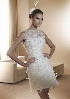 Vestido de novia corto Figueras de Pronovias - Vestidos de novia cortos - enfemenino
