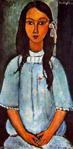 untitled (1438) by Amedeo Modigliani (1884-1920, Italy) - Thx WahooArt