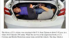 San Diego: Driver arrested after 4 Chinese immigrants found crammed in t...