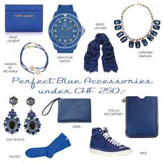 Blue Accessories Stella Mccartney, Marc Jacobs, Saint Laurent, Zara, Chf, Watches, Nike, Smoothie, Advertising