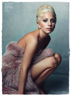 Lady Gaga - She's a very interesting and daring soul.  And a very smart business woman in that she knows how to market herself.  I think she is very beautiful in this picture.