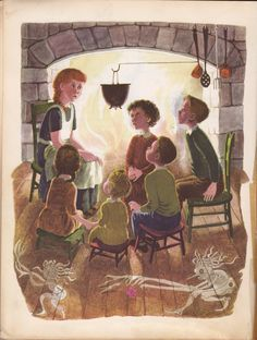Little Orphan Annie by James Whitcomb Riley.  .........and the gobblins will get ya....if you don't watch out....