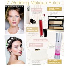 7 Wedding Makeup Rules by kusja on Polyvore featuring beauty, Beauty, makeup and wedding