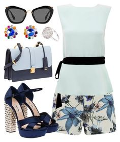 """Blue me..."" by joslynaurora on Polyvore featuring ONLY, Raoul, Miu Miu, River Island, women's clothing, women's fashion, women, female, woman and misses"