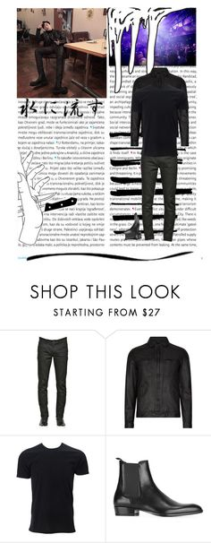 """""""Club Night"""" by lee-taesong ❤ liked on Polyvore featuring Oris, Shin Choi, Dolce&Gabbana, AllSaints, Simplex Apparel, Yves Saint Laurent, Brush Strokes, men's fashion and menswear"""