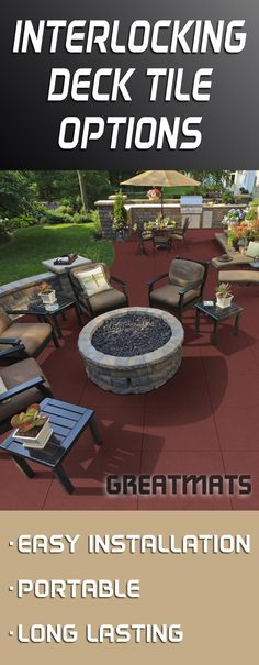 Find Deck Tiles For Outdoor Exterior Use In Rubber And Snap Together  Options. Use Outdoor Deck Tiles For Decks, Balconies, Roofs And Patios On  Decks.