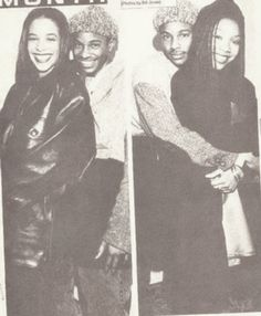 Aaliyah and Brandy Norwood with R&B singer Tevin Campbell Aaliyah Singer, Rip Aaliyah, Aaliyah Style, My Funny Valentine, Aaliyah Pictures, Brandy Norwood, Aaliyah Haughton, Old School Music, Hip Hop And R&b