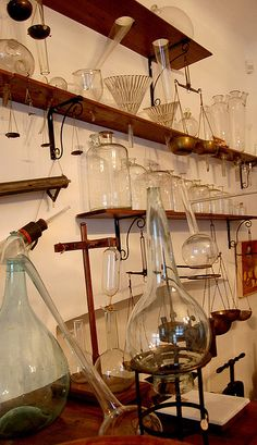 Glass things in an ancient chemist's lab | Flickr - Photo Sharing!