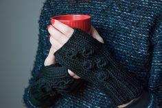 Lovely merino wool mittens available on www.tenderside.com