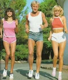 Nothing like a brisk jog in skin tight denim shorts.