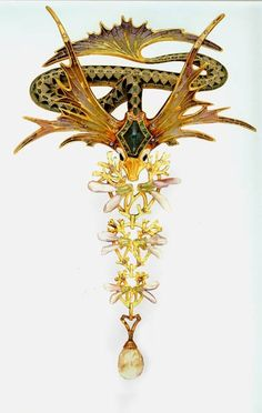 Georges Fouquet, Winged Chimera brooch by Midnight Orchid