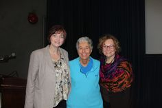 Judith Rubin, center, with Margaret Carlock-Russo and Joan Bloomgarden, co-directors of the Creative Arts Therapy graduate program at Hofstra.