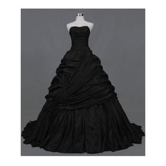 Black Ball Gown Gothic Wedding Dress by DEVILNIGHTUK ❤ liked on Polyvore featuring dresses, gothic dresses, gothic lolita dress, gothic clothing dresses and goth dresses