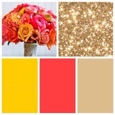 Coral wedding colors