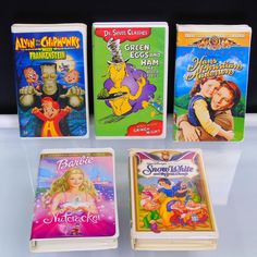 Items similar to 5 VHS Tapes Timeless Classics Masterpieces Walt Disney MGM Universal F. 20 Century Fox on Etsy Movies For Sale, Studio Green, Alvin And The Chipmunks, Green Eggs And Ham, Vhs Tapes, Vintage Music, Toy Store, Book Crafts, Disney Movies
