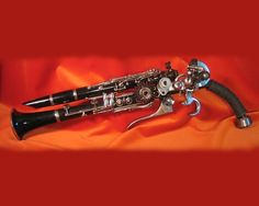 steampunk gun #steampunk by far the coolest use of a clarinet I've ever seen, if only I still had mine! :/