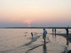 Sunset at Town Beach, Old Saybrook, CT, on Long Island Sound