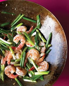 Shrimp and Scallion Stir-Fry - Martha Stewart Recipes  ----------------------------  Need to try this soon!