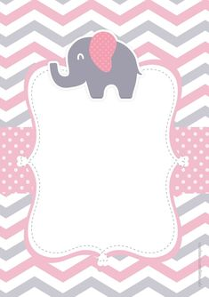 Baby shower invitations free decoration New ideas Baby Shower Planner, Baby Shower Niño, Shower Bebe, Baby Shower Parties, Baby Shower Themes, Baby Shower Decorations, Baby Shower Gifts, Birthday Decorations, Elephant Party