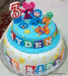 Too Cute To Resist  Pocoyo Cake Happy Birthday Ayden