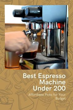 It's no secret that good coffee can be an expensive hobby. But if you're just dipping your toe in the water of home espresso making, you're not going to want to spend big. At least, not until you know a bit more about it. #coffee #espresso #muchine Craving Coffee, Best Espresso Machine, Best Coffee Maker, Coffee Cans, Canning, Toe, Water, Best Drip Coffee Maker, Gripe Water