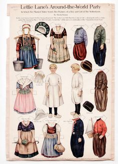 Lettie Lane Dutch Girl and Boy Paper Dolls 1911