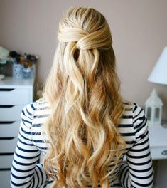 Copy This Chic Wrapped Half Updo For Spring 2016