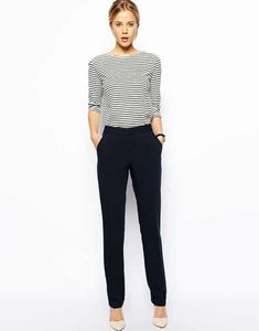 Buy ASOS Straight Trousers With Jet Pocket at ASOS. With free delivery and return options (Ts&Cs apply), online shopping has never been so easy. Mode Outfits, Casual Outfits, Fashion Outfits, Womens Fashion, Business Mode, Business Outfits, Business Casual, Pants For Women, Clothes For Women