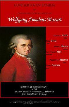 Conciertos en Familia: Conmemoración Natalicio Mozart @ Conservatorio de Música de Puerto Rico, Miramar #sondeaquipr #conciertosenfamilia #cmpr #sanjuan #mozart