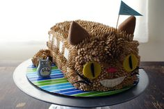 Catbus cake!  With a tiny Totoro!  What more could you possibly want?!