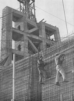 Building of Stalin monument - Prague - cca 1955