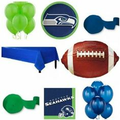 Amazon.com : Super Bowl XLVIII Seattle Seahawks Party Pack For 18 ...