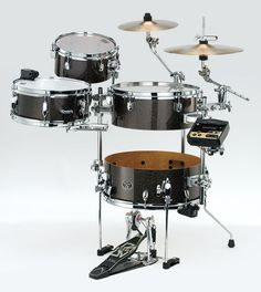 Tama VK46CBCRHMGD Limited Edition Silverstar Cocktail-JAM Hybrid Kit with Roland TM-2 Trigger Module and RT-10 Triggers in Midnight Gold Sparkle