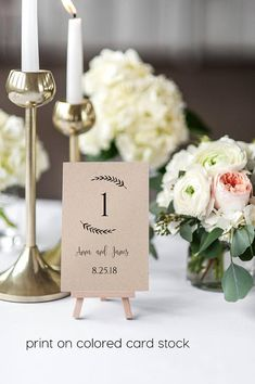 Table Numbers 4x6, Wedding Table Number, DIY #papergoods #tag @EtsyMktgTool http://etsy.me/2z9Aq4P #tablenumbers4x6 #weddingtablenumber