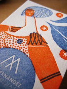 Letterpress business cards by Mar Hernández .