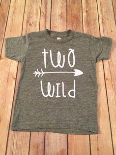 Zwei wilde Geburtstag Shirt 2. Geburtstag von OliverOliviaApparel