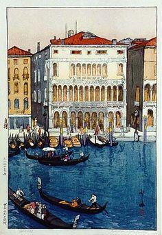 Canal in Venice  by Hiroshi Yoshida, 1925
