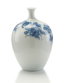 John Richard Round Bodied Blue & White Jar
